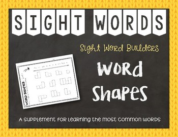 Most Common Words Lists: Word Shapes ~ Reading Horizons Companion