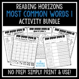 Most Common Words 1 Activities - Reading Horizons