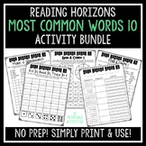 Most Common Words 10 Activities - Reading Horizons