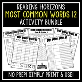 Most Common Words 12 Activities - Reading Horizons