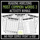 Most Common Words 2 Activities - Reading Horizons