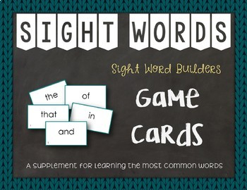 Most Common Words Lists: Game Cards & Flashcards ~ Reading