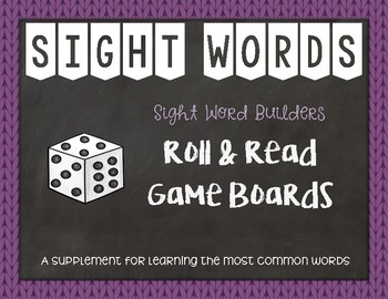 Most Common Words: Roll & Read ~ Reading Horizons Companion