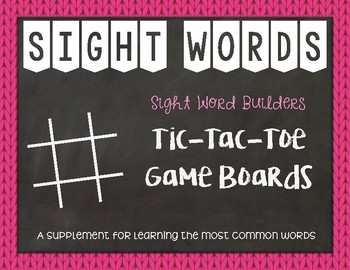 Most Common Words: Tic-Tac-Toe Game Boards ~ Reading Horizons Companion