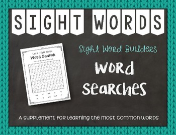 Most Common Words Lists: Word Searches ~ Reading Horizons Companion