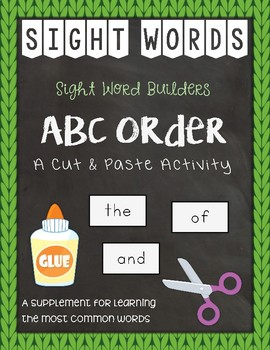 Sight Word Builders: ABC Order ~ Most Common Words