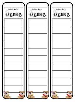 Most Common Words/Sight Words Data Tracking and Organization