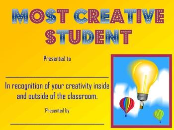Most Creative Student Award