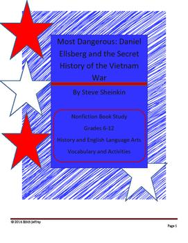 Most Dangerous: Dan Ellsberg - Secret History of the Vietnam War Book Activities