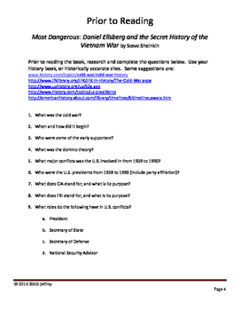 Most Dangerous: Daniel Ellsberg - Secret History of the Vietnam War Book Study