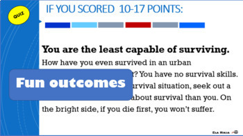 The Most Dangerous Game Activity: Buzzfeed Quiz How Much of a Survivor Are You?