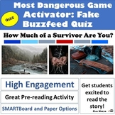 The Most Dangerous Game Activity: Buzzfeed Quiz How Much o