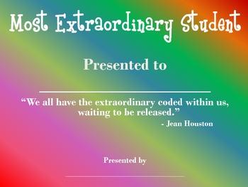 Most Extraordinary Student Award