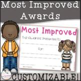 Most Improved Award- Editable!
