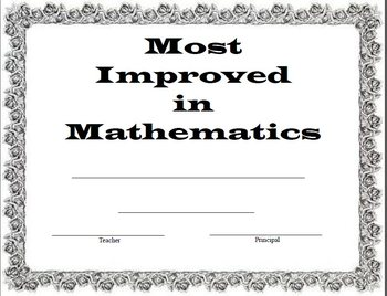 Most Improved Math Award