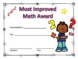 Most Improved Math Award Boy #2