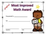 Most Improved Math Award Boy #4