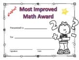 Most Improved Math Award Boy #5