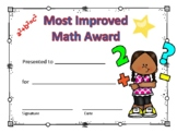 Most Improved Math Award Girl #4