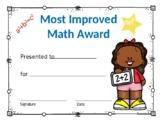 Most Improved Math Award Girl #5