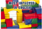 Most Improved in English Wooden Blocks