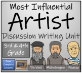Most Influential Artist Opinion Writing Unit   3rd Grade & 4th Grade