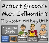 Most Influential Ancient Greece Opinion Writing Unit   3rd Grade & 4th Grade