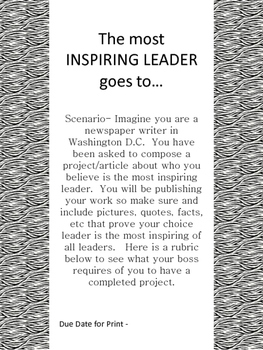 Most Inspiring Leader Project