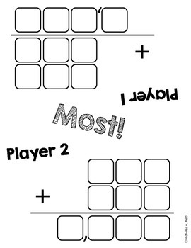 Most/Least Addition and Subtraction Games