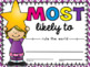 Most Likely To… Students Awards {End of the Year} EDITABLE!
