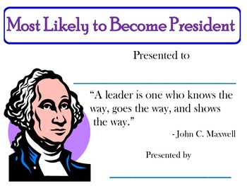 Most Likely to Become President