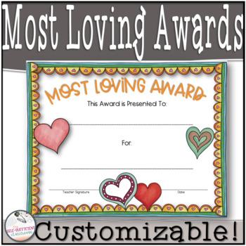 Most Loving Awards (Superlatives) ~EDITABLE!