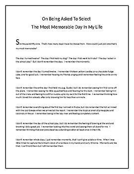 Most Memorable Moments- Personal Narrative Small Moments Writing (Aligns to TC)