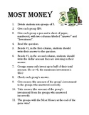 Most Money Review Activity