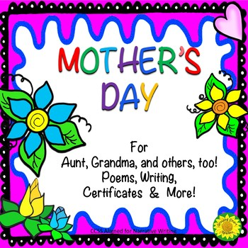Mother's Day Poems, Writing and Certificates