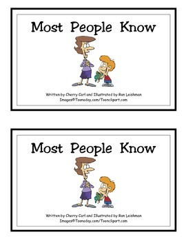 Most People Know: Guided Reader (-ow Word Family)