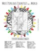 Most Populous Countries in the World word search puzzle worksheet