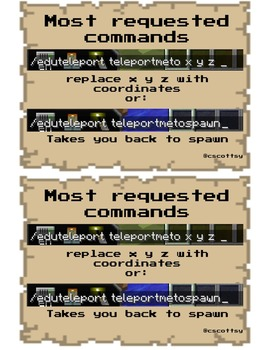Most Requested Teleport Commands for MinecraftEDU