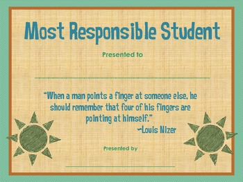Most Responsible Student Award