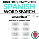 Spanish Worksheet - Spanish Verbs - Spanish Word Search - High Frequency Verbs