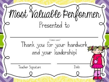 Most Valuable Performer Awards