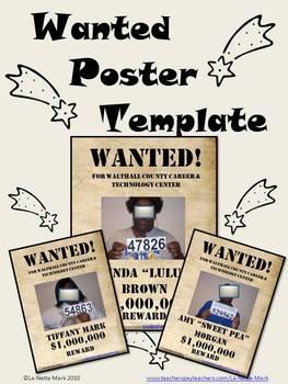 Wanted Poster Template Teaching Resources Teachers Pay Teachers