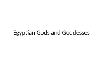Most Worshipped Egyptian Gods and Goddesses