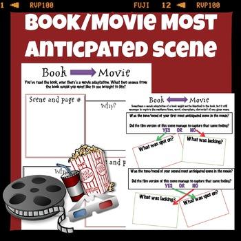 Most anticipated scene book and movie comparison