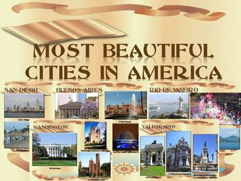 America - Most beautiful cities - 35 slide PowerPoint pres
