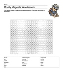 Mostly Magnets Science Vocabulary Word Search Plus Answer Key