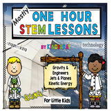 (Mostly) One Hour STEM Lessons -GRAVITY, PLANES, KINETIC E