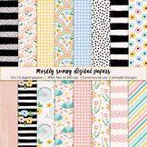 Mostly sunny digital papers