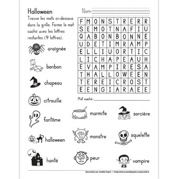 Mot caché, Halloween