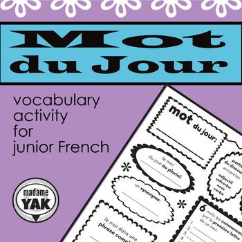 Mot du Jour/ Word of the Day